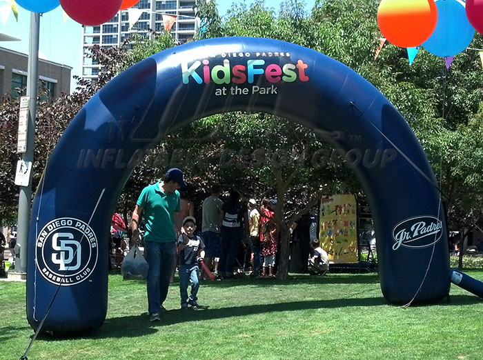 San Diego Padres Tube Arch
