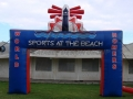 Sports at the Beach Sq Leg Arch