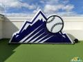 Colorado Rockies Inflatable Logo Block