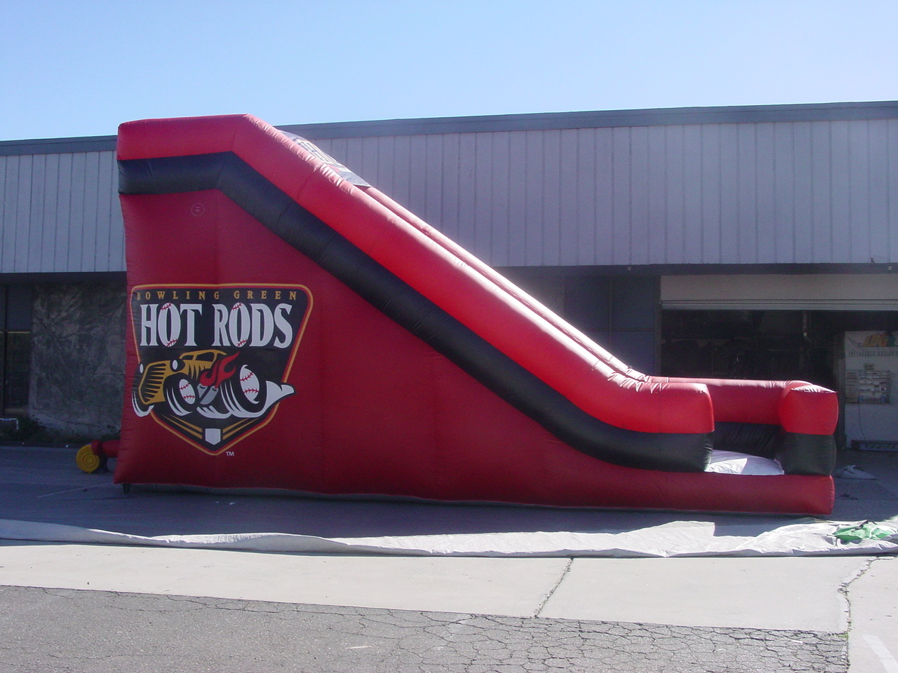 Hot Rods Inflatable Slide