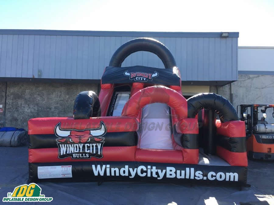 Windy City Bulls Basketball Obstacle Front View