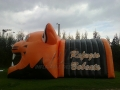 Inflatable Bobcat Head and Tunnel