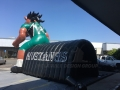 Inflatable Mustang Tunnel Rear View