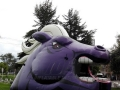 Inflatable Purple Mustang