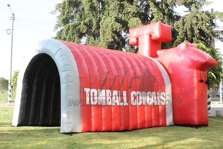 Inflatable Cougar Head Tunnel Rear