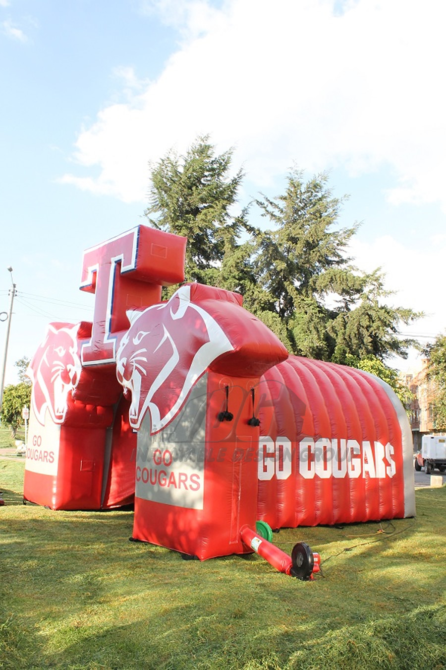 Inflatable Cougar Tunnel Side View