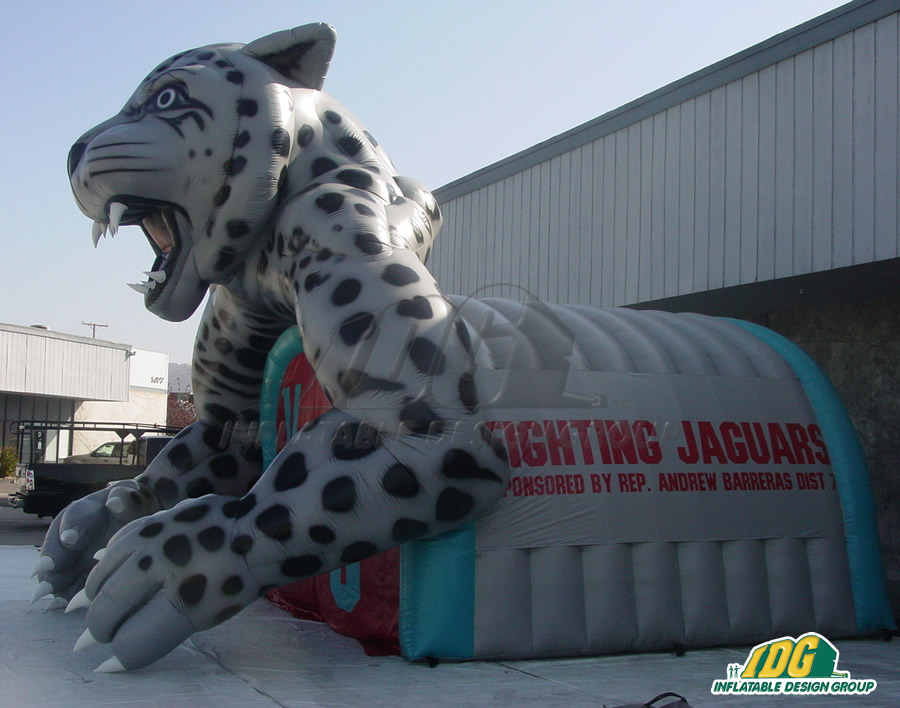 Inflatable Grey Jaguar Tunnel Side Vie