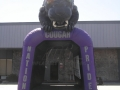 Inflatable Cougar Tunnel Front