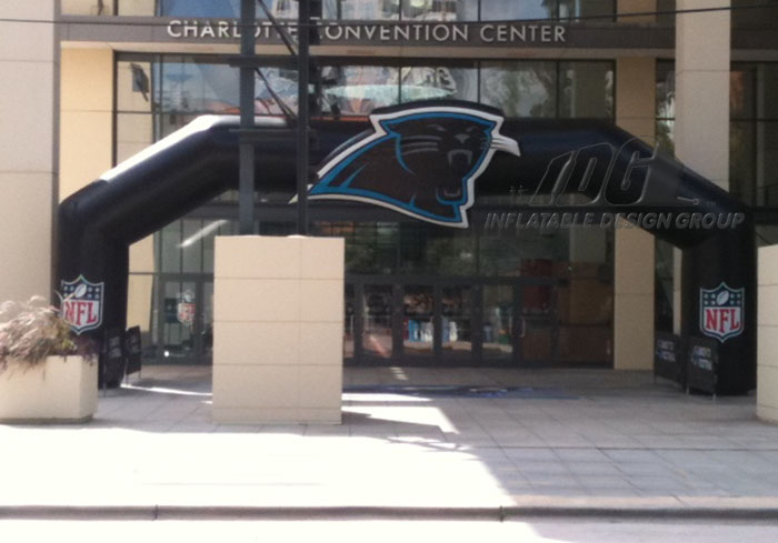Carolina Panther Inflatable Archway