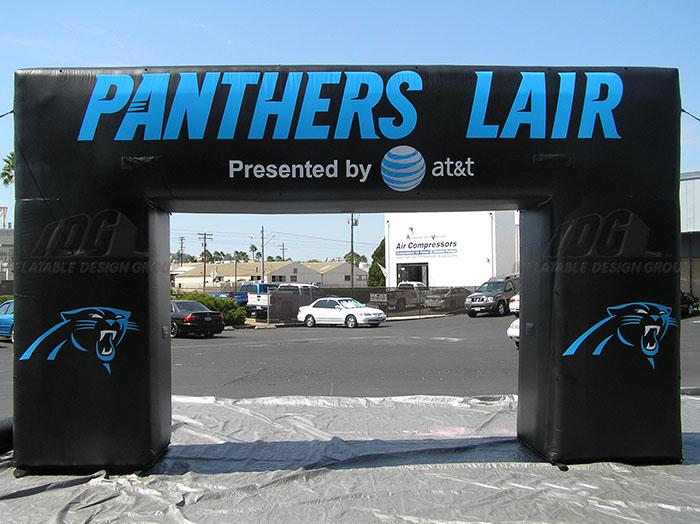 Carolina Panthers Square Block Archway