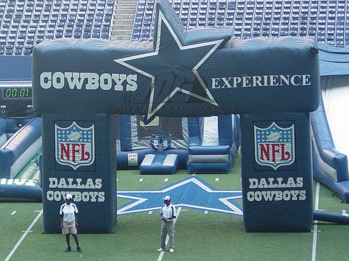 Dallas Cowboy Inflatable Archway