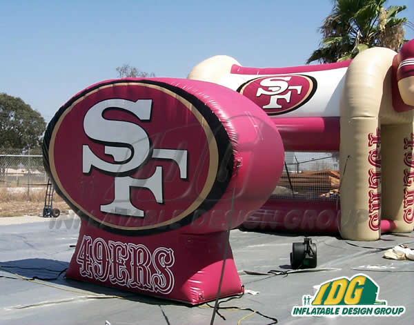 Forty Niners Logo Inflatable