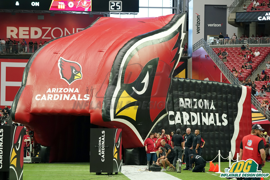 arizona cardinals inflatable archway