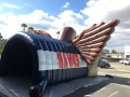 Inflatable Hawk Rear View