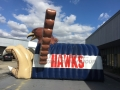Inflatable Hawk Side View