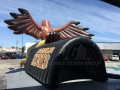Inflatable Standing Hawk Rear View