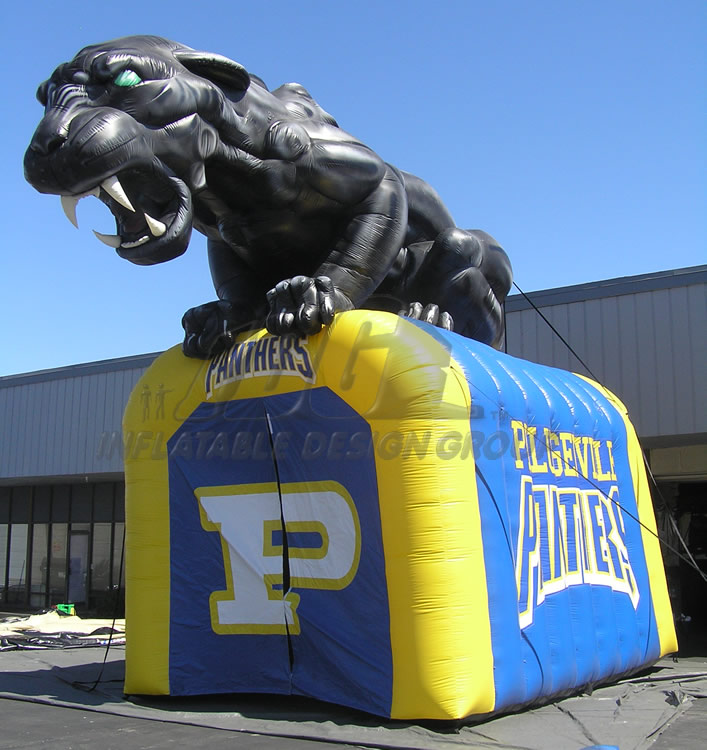 Inflatable Pflugerville Panthers Mascot Tunnel
