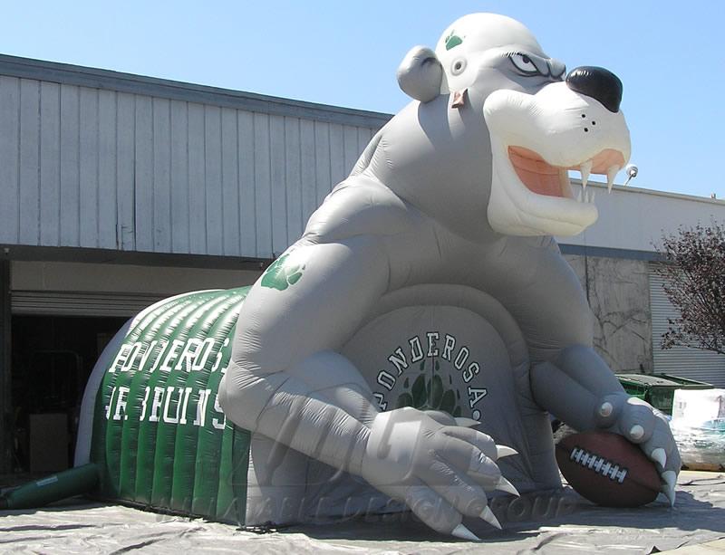 Inflatable Ponderosa Custom Bear Mascot Tunnel