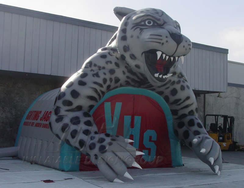 Inflatable Valencia Jaguar Custom Mascot Tunnel