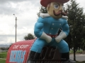 Inflatable Casey County Rebel Standing Mascot Tunnel