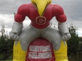 Central Falcons Custom Standing Mascot Tunnel