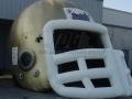Saints Custom Inflatable Football Helmet
