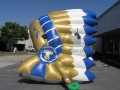 Inflatable Blue and Gold Headdress