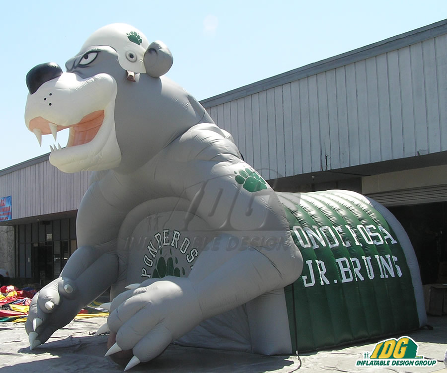 Inflatable Ponderosa Bruin Entryway Side View