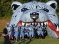 Inflatable Blue Bear Head