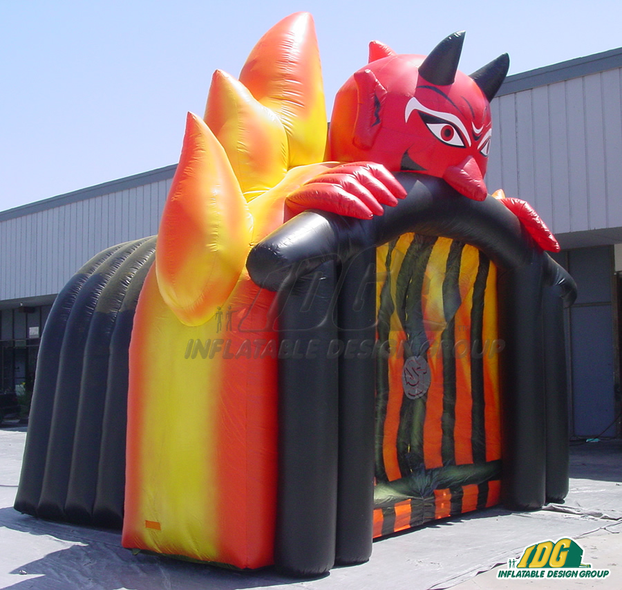 Inflatable Devil Entryway Sideview