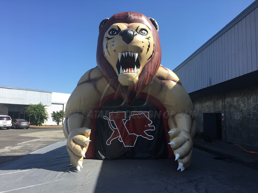 Inflatable Lion Entry Front View