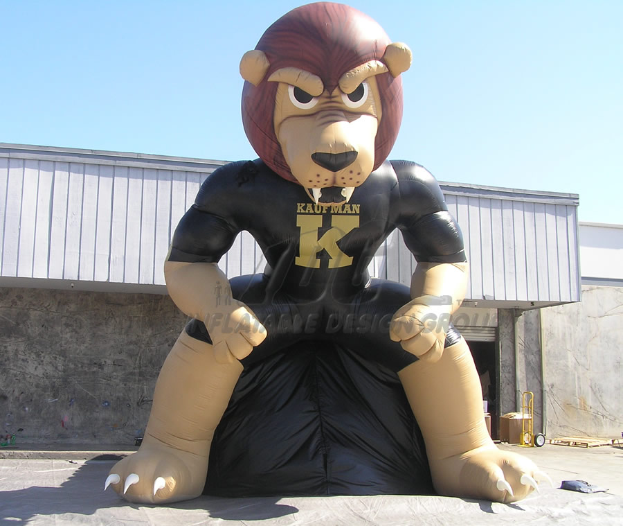 Inflatable Lion Mascot Tunnel