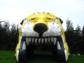 Inflatable Lion Head Tunnel