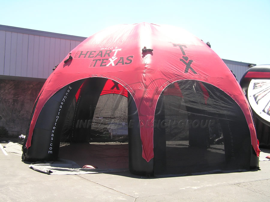 Inflatable Heart of Texas Dome