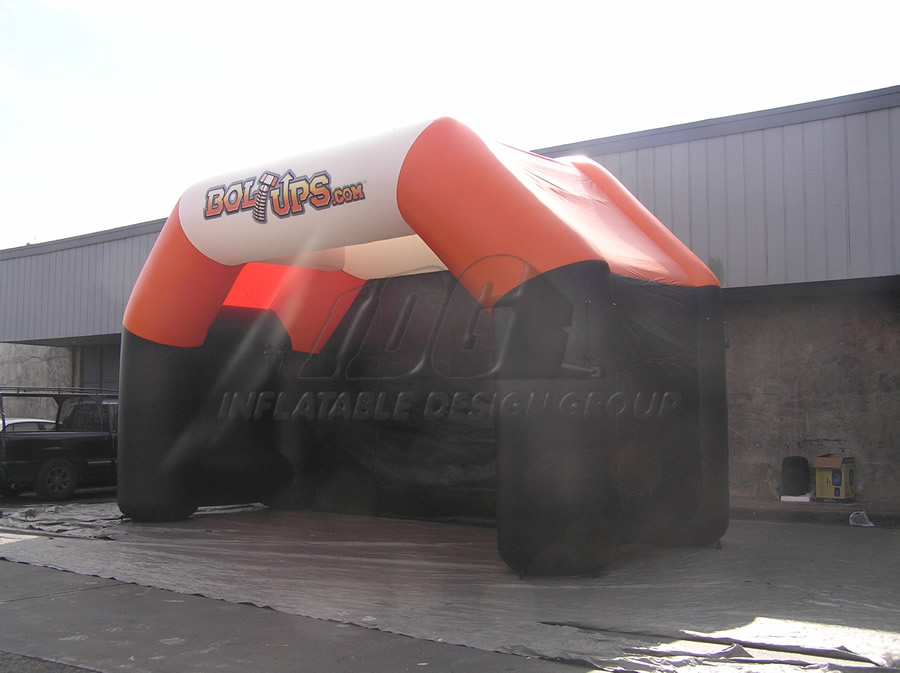 Inflatable Orange Tent