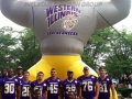 western illinois custom inflatable bulldog mascot
