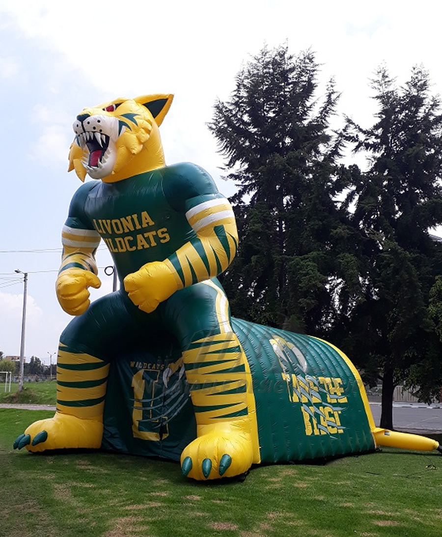 Inflatable Wildcat Mascot Tunnel