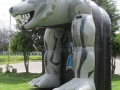 Inflatable Wolf Entryway Side View