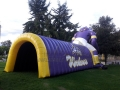 Inflatable Wolf Tunnel Rear View