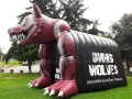 Inflatable Wolves Tunnel Entryway