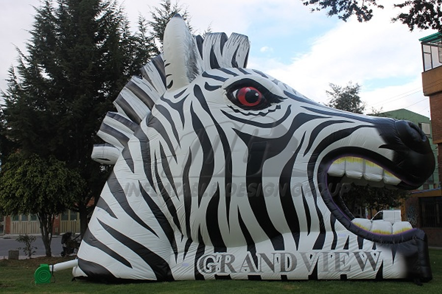 Inflatable Zebra Head Mascot