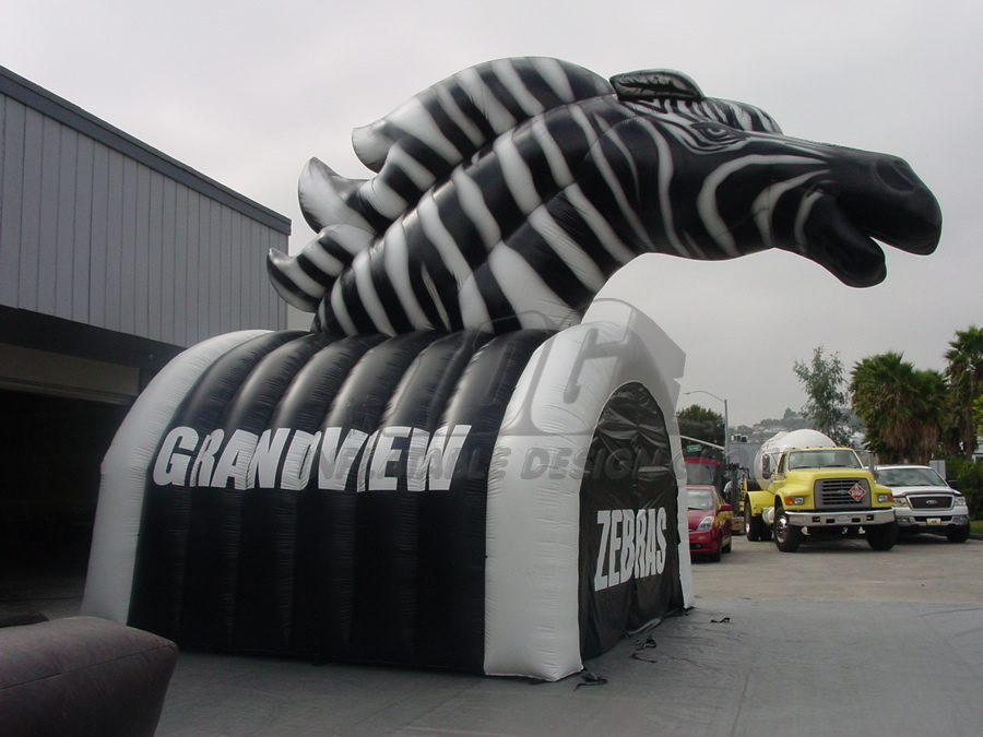 Inflatable Zebra Side View