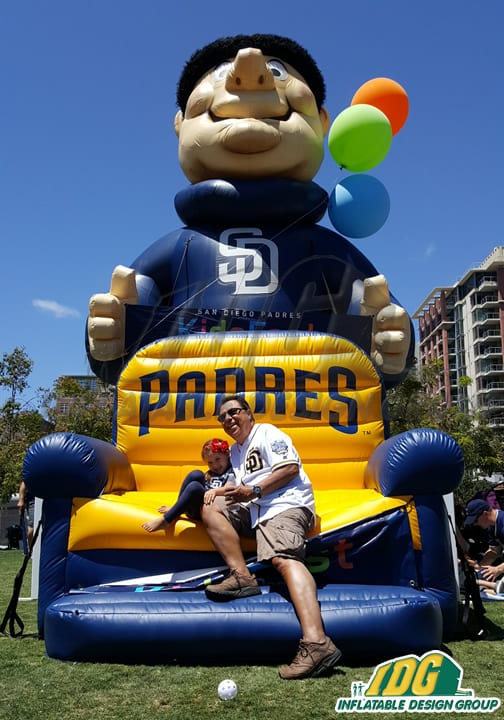 Padres Inflatable Couch & Giant Friar