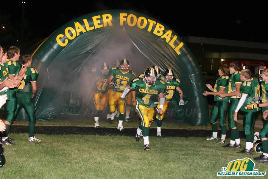 inflatable high school entrance tunnels