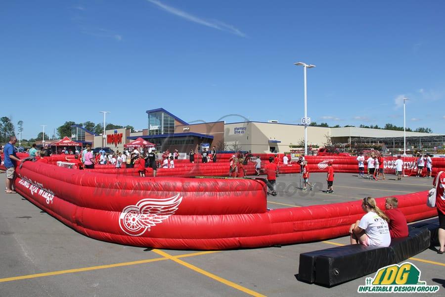 inflatable hockey rinks