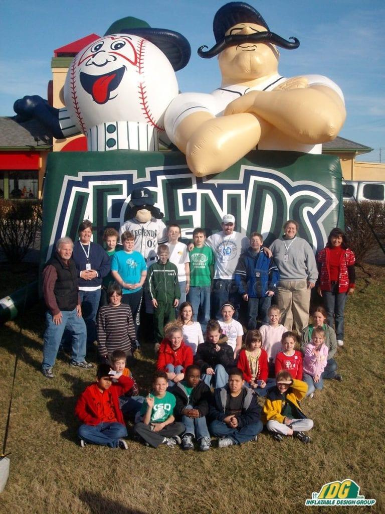 inflatable baseball mascots