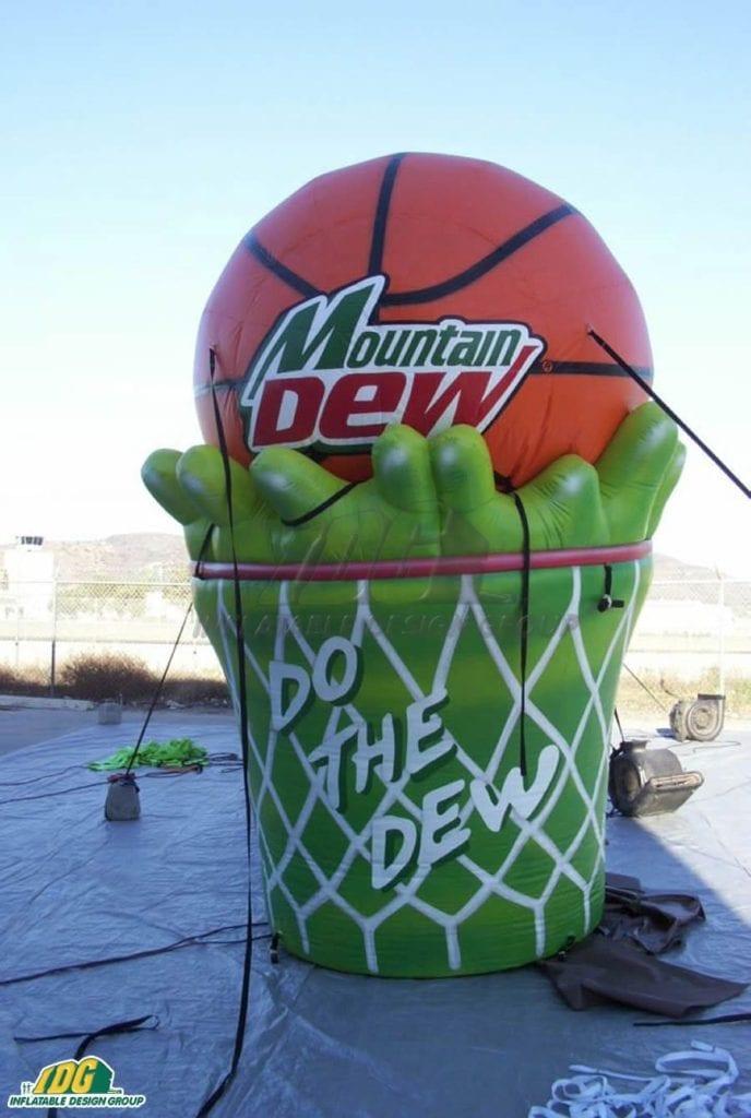 inflatable basketball logos