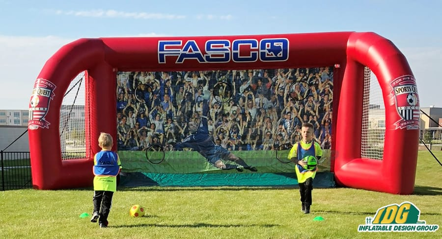 interactive soccer inflatables